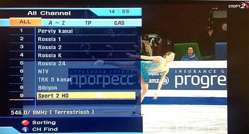 Пример меню цифрового ТВ-тюнера DVB-T2 - Интернет-магазин Carmulti